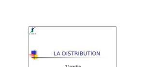 Distribution et transport