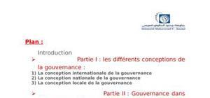 Gouvernance dans l'économie publique