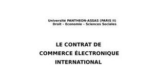 Le contrat de commerce Électronique international