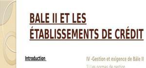 Bale 2 et les etablissements de credit