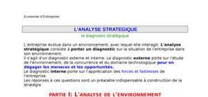 Analyse stratégique - le diagnostic