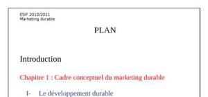 Marketing durable final