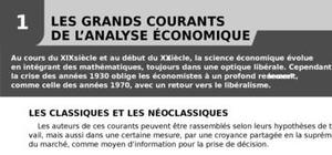 Les grands courants de l'analyse économique