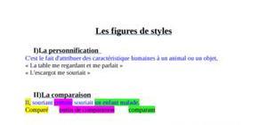 Les figures de styles