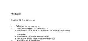 Un mémoire intitulé e-commerce