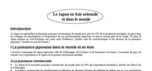 Le japon en asie orientale  et dans le monde