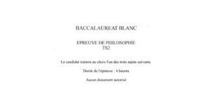 Bac Blanc S Philosophie 2012