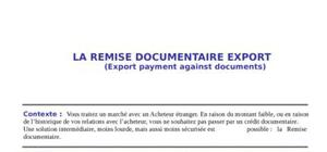 La remise documentaire export