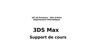 Le logiciel proffessionel 3ds max
