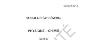 Sujet Bac S Physique-Chimie Spé Pondichéry 2012
