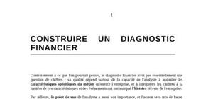Construire un diagnostic financier