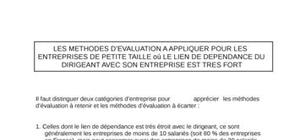 Les methodes d'evaluation