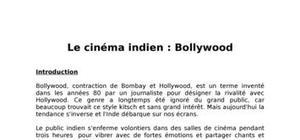 Exposé sur le cinéma indien bollywood