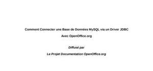 Connecter une base de données mysql via un driver jdbc