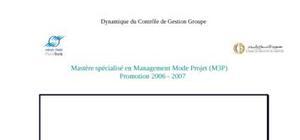 Dynamique du contrôle de gestion groupe