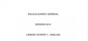 Sujet Bac L LV1 Anglais Washington 2012