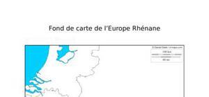 Fond de carte de l'Europe Rhénane