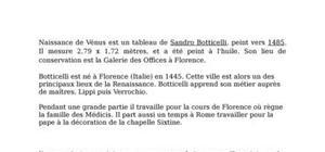 Boticelli, la naissance de venus