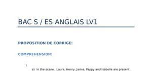 Corrigé Bac S Anglais 2012 : Bac 2012 S