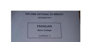Sujet Français Brevet 2012