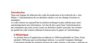 La codification ou code à barres