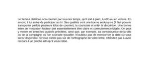 Lettre de Motivation Facteur