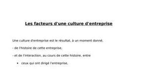 Facteurs de la culture