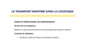 Transport maritime dans la logistique