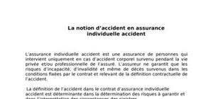 La notion d'accident