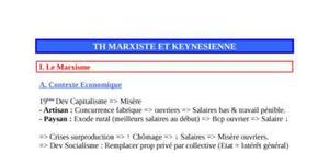 Th marxienne et keynesienne
