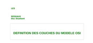 Definition des couches du modele osi