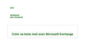 Créer sa boite mail avec microsoft exchange