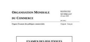 Examen des politiques commerciales  rapport du   royaume du maroc