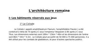 L'architècture romaine