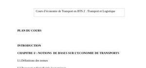 Economie des transport