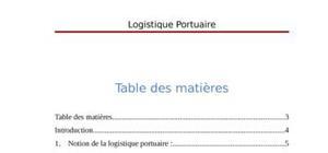 Logistqiue portuaire