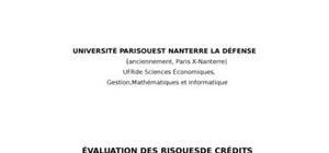 Évaluation des risques de crédits