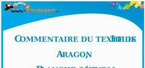Commentaire de texte : « Blanche ou l'oubli » de Louis Aragon