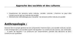 Approche des sociétés et des cultures_ue7