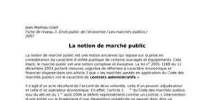 La notion des marches publics