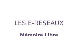 """Mémoire libre sur les """"e-réseaux"""""""
