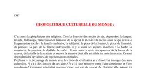 Géopolitique culturelle du monde