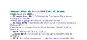 Présentation de la société shell