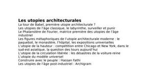 Le utopies architecturale
