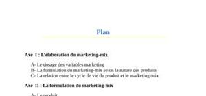 Strategie du marketing mix