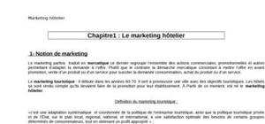 Le marketing hôtelier
