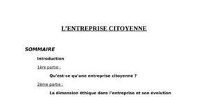 L'entreprise citoyenne
