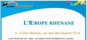 Cours sur l'Europe rhénane : Terminale ES et L