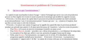Investissment et pb d'investissment