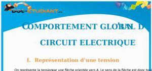 Comportement global d'un circuit électrique : Cours Terminale S